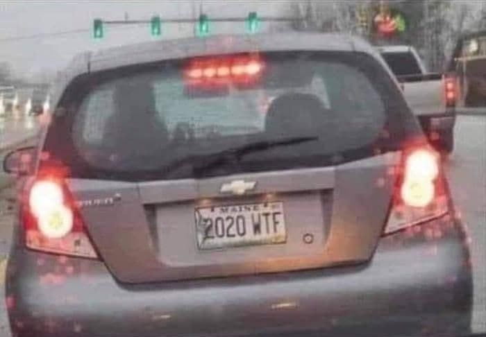2020WTF - funny license plate of America