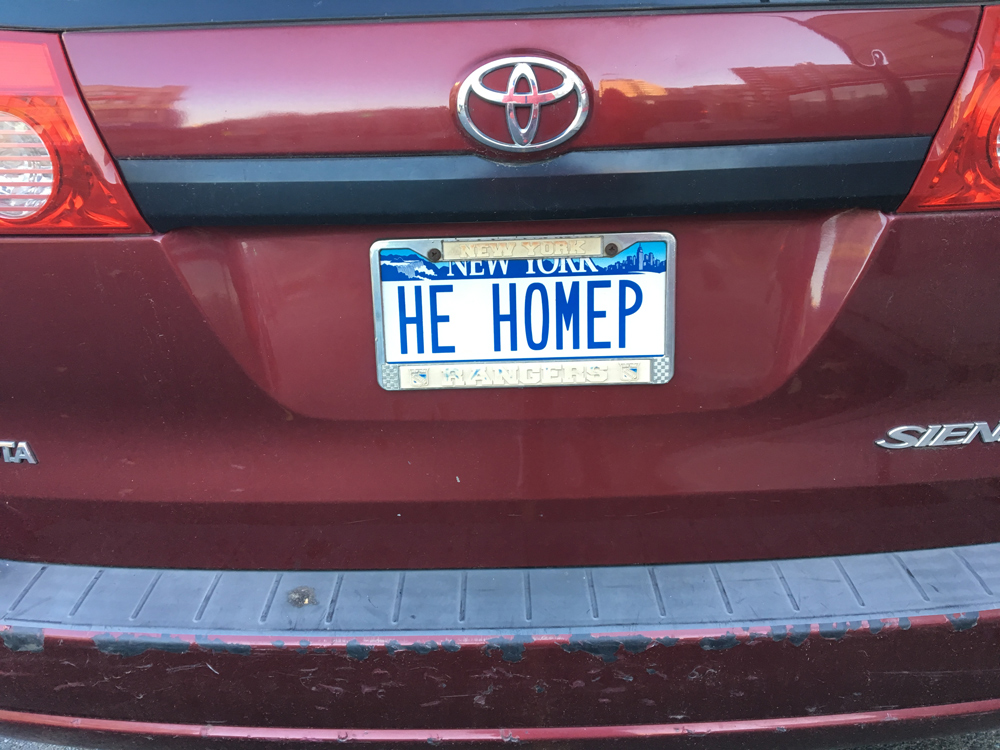 HEHOMEP - funny license plate of America