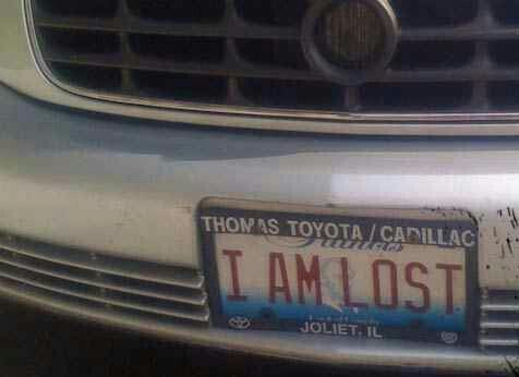 IAMLOST license plate of America